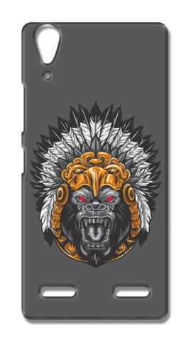 Gorilla Wearing Aztec Headdress Lenovo A6000 Cases | Artist : Inderpreet Singh