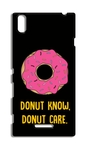 DONUT KNOW DONUT CARE Sony Xperia T3 Cases | Artist : Manju Nk