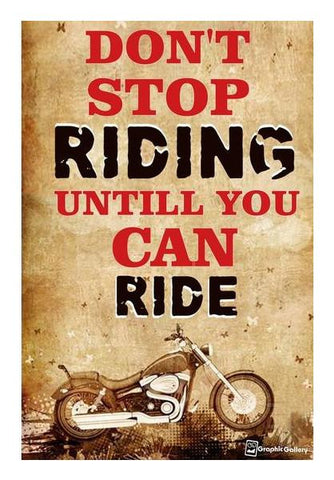 PosterGully Specials, Don't Stop Riding Wall Art | Artist : Graphic Gallery, - PosterGully