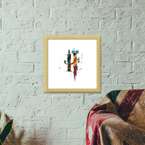 Harry Potter Premium Square Italian Wooden Frames | Artist : Arcenbeat