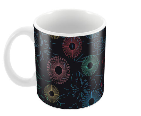 Difficult level mandala circle flower pattern Coffee Mugs | Artist : Designerchennai