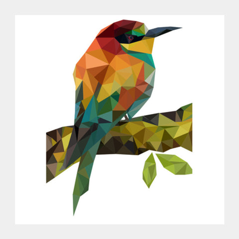 Square Art Prints, Poly Bird Square Art Prints | Artist : Swathi Kirthyvasan, - PosterGully