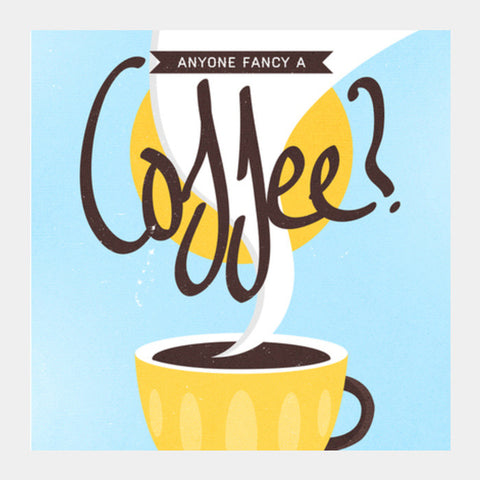 coffee poster Square Art Prints | Artist : Fariya Arts
