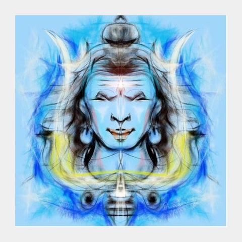 PosterGully Specials, shiva Square Art Prints | Artist : Pradeesh K, - PosterGully