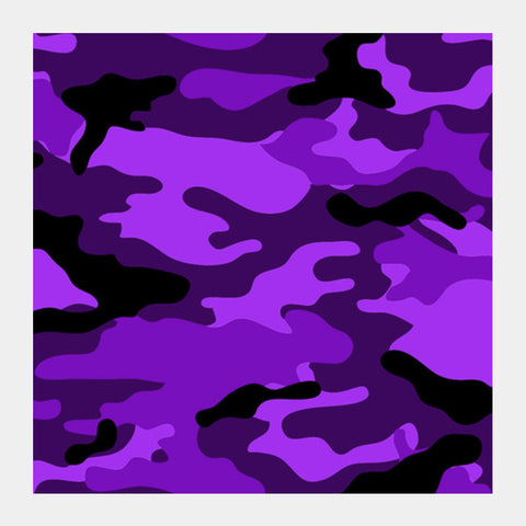 Violet Camo Square Art Prints PosterGully Specials