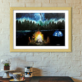 Camping under the beautiful sky  Premium Italian Wooden Frames | Artist : Mohor