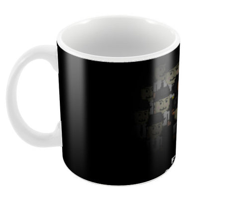Fuck Society Mr Robot Themed 8bit Design Coffee Mugs | Artist : Divyansh Deora