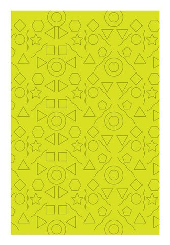 PosterGully Specials, Yellow Shapes Geometric Wall Art | Artist : Designerchennai, - PosterGully