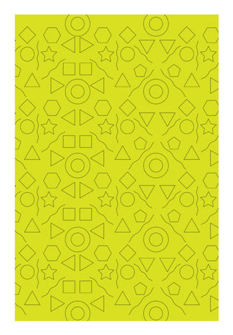 Yellow Shapes Geometric Art PosterGully Specials