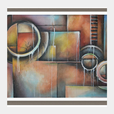Square Art Prints, Contemporary Abstract Art Square Art Prints | Artist : Anirudh Khanna, - PosterGully