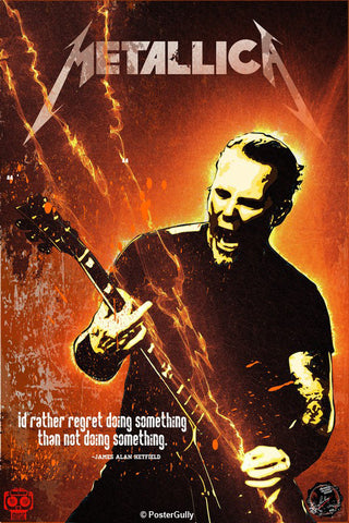 Wall Art, James Hetfield  Artwork | Artist: Devraj Baruah, - PosterGully - 1
