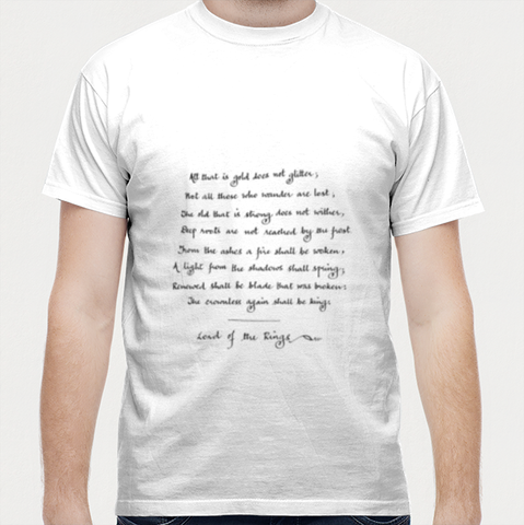 Lord of the Rings Hand Calligraphy Men T Shirts | Artist : Shubhangni Gupta