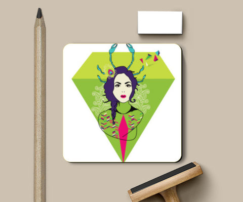 Diamond Girl Coasters | Artist : Manvi Kaushal