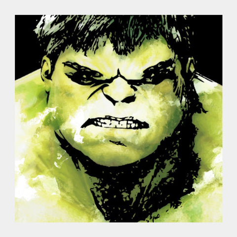Square Art Prints, The Incredible Hulk Movie Comic Character Artwork | Artist: Pulkit Taneja, - PosterGully