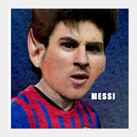 Messi Barcelona Square Art Prints | Artist : ASHUTOSH RAI