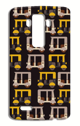 Auto rickshaw seamless illustration LG G4 Cases | Artist : Designerchennai