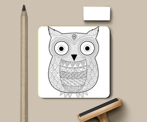 Coasters, The Owl Coasters | Artist : Arpita Gogoi, - PosterGully