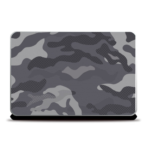 Camouflage Grey and Black Laptop Skins | Artist : Creative DJ