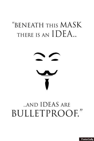 Wall Art, Vendetta Bulletproof Artwork | Artist: Loco Lobo, - PosterGully - 1