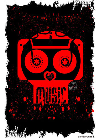 Wall Art, Music Black Artwork | Artist: Devraj Baruah, - PosterGully - 1