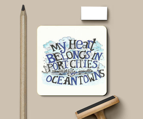 my heart belongs to the sea Coasters | Artist : Suneera Heloise Mendonsa