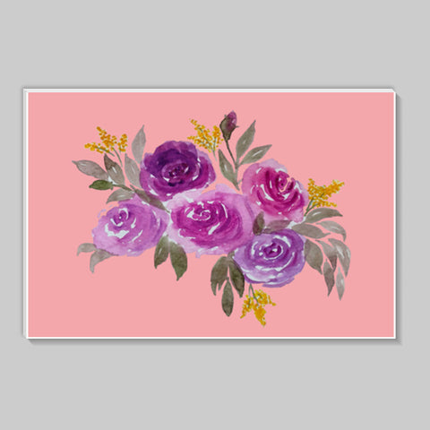 Pretty Watercolor Pink Rose Bouquet Floral Stick Ons | Artist : Seema Hooda