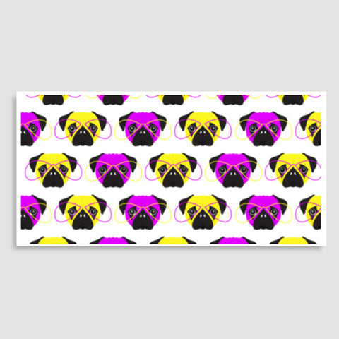 Pop Art Pugs Pattern Door Poster | Artist : Stuti Bajaj
