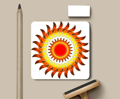 Coasters, Sunflower Coasters | Artist : CK GANDHI, - PosterGully