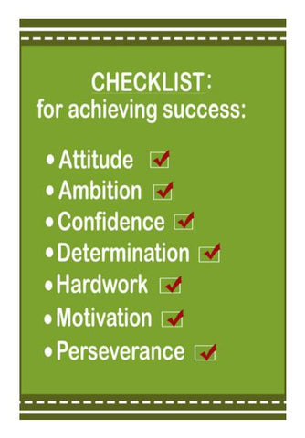 PosterGully Specials, Success Checklist Typography Motivational Poster Wall Art | Artist : Seema Hooda | PosterGully Specials, - PosterGully