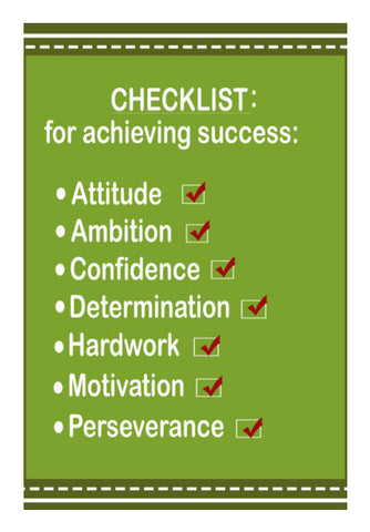 Wall Art, Success Checklist Typography Motivational Poster Wall Art | Artist : Seema Hooda, - PosterGully