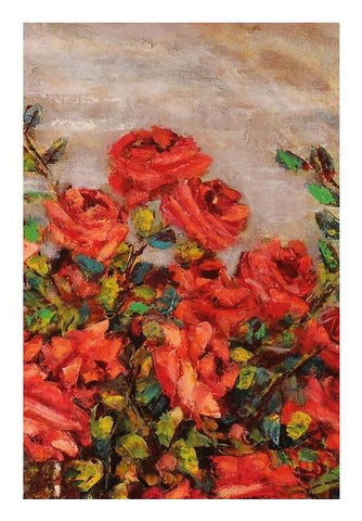 PosterGully Specials, Red roses Wall Art | Artist : Raji Chacko classic paintings, - PosterGully