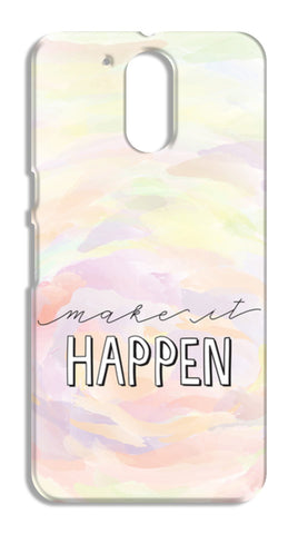 Make it happen hand lettering Moto G4 Cases | Artist : Stuti Bajaj