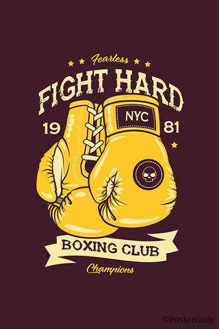 Boxing Club Fight Hard Artwork