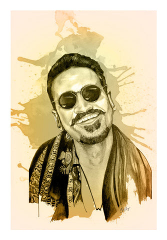 Danush - Maari(Watercolor) Wall Art | Artist : Sandeep Narayan