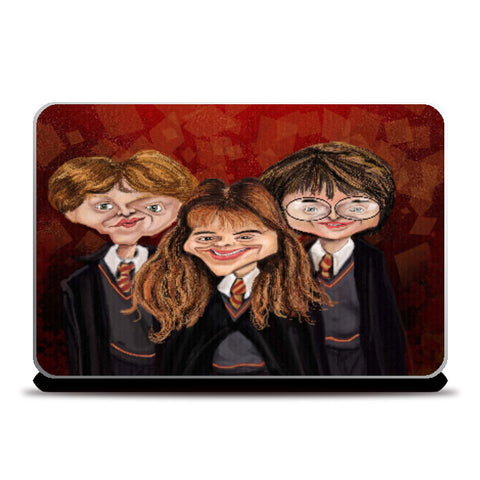 Laptop Skins, Caricature Ron Hermione and Harry | Kaleidostrokes - Leena Swamy, - PosterGully