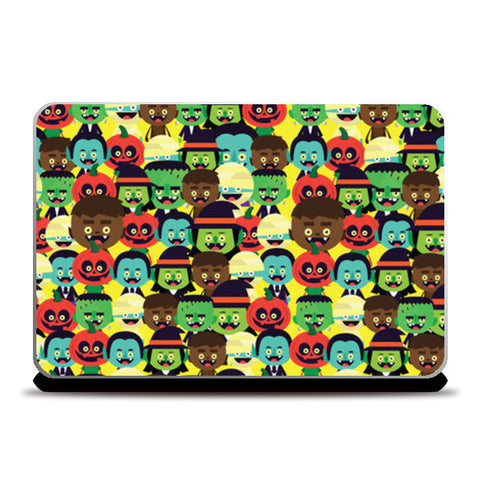 Laptop Skins, HALLOWEEN MONSTERS Laptop Skin | Mona Singh, - PosterGully
