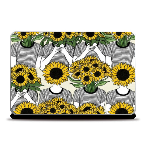 Sunflowers Collage Laptop Skins | Artist : Priyanka Paul