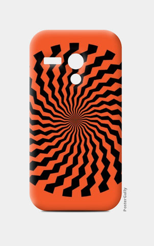 Moto G Cases, ILLUSION-ORANGE Moto G Cases | Artist : Sonia Punyani, - PosterGully