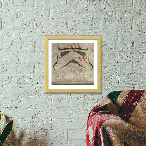 Storm Trooper | Star Wars Force Awakens Premium Square Italian Wooden Frames | Artist : Samar Khan