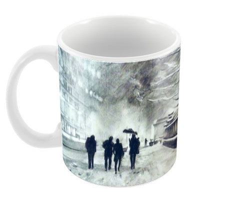 Snow Coffee Mugs | Artist : Sukanya Chakraborty