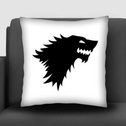 Game Of Thrones, Starks, Winter Is Coming, Direwolf, John Snow Cushion Covers | Artist : Nihal Dad Khan