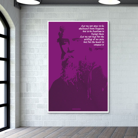 Tagore Giant Poster | Artist : Scatterred Partikles