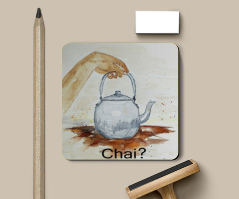Coasters, Tea Kettle, Chai Watercolor  Illustration Coasters | Artist : Seema Hooda, - PosterGully