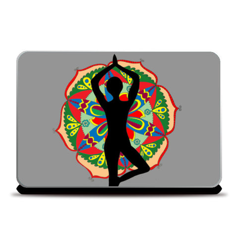 Yoga | Zentangle | Mandala | Doodle Laptop Skins | Artist : Disha Kedia
