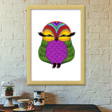 Baby Zoe the adorable baby owl Premium Italian Wooden Frames | Artist : Animal kingdom
