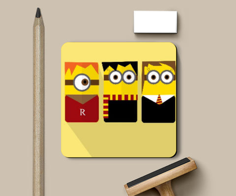 Coasters, Harry Potter Minions Coaster | Artist Sarbani Mookherjee, - PosterGully