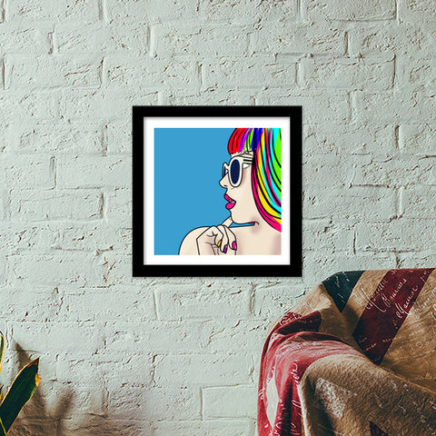 colorful monster Premium Square Italian Wooden Frames | Artist : DISHA BHANOT