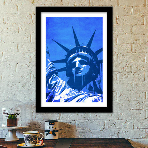 Premium Italian Wooden Frames, Liberty of New York Premium Italian Wooden Frames | Artist : Durro Art, - PosterGully - 1