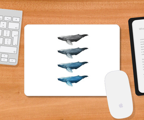 Watercolor Whales  Mousepad | Artist : Ashritha Rao