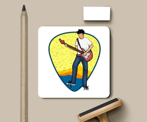 The Guitarist Coasters | Artist : Malay Jain